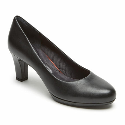 Rockport Women TOTAL MOTION LEAH PUMP BLACK/NAPPA
