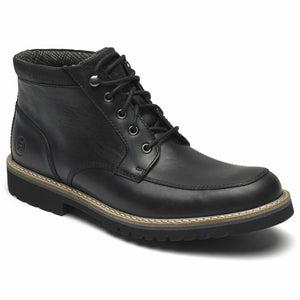 Rockport Men MARSHALL RUGGED MOC TOE BLACK