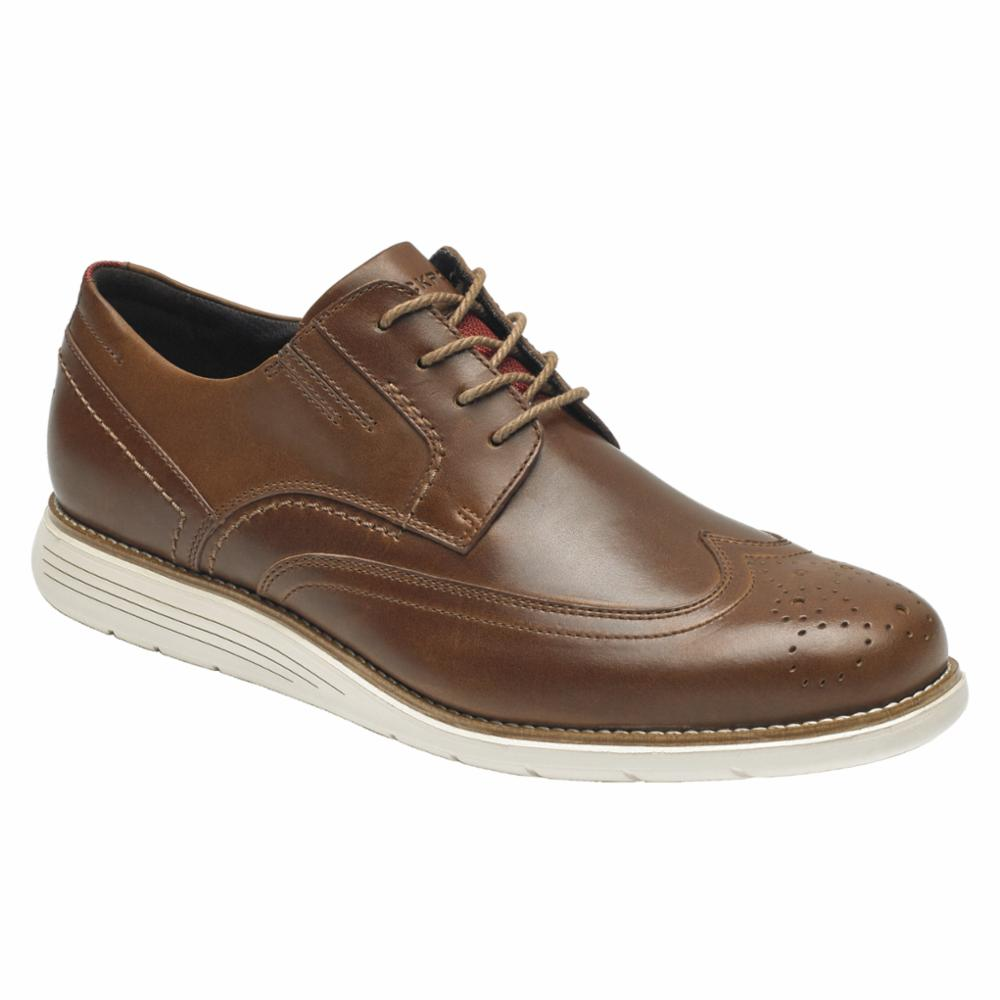 Rockport Men TOTAL MOTION SPORT DRESS WING TIP HAZELNUT
