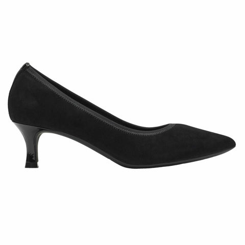 Rockport Women TOTAL MOTION KAIYA PUMP BLACK/KID SUEDE