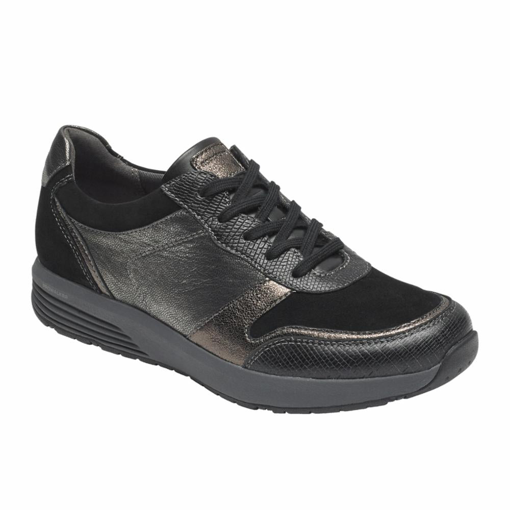 Rockport Women TRUSTRIDE UBAL LTD BLACK/LEATHER