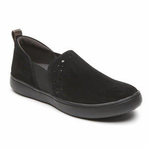 Rockport Women CITY LITE ARIELL DBL GORE BLACK/SUEDE