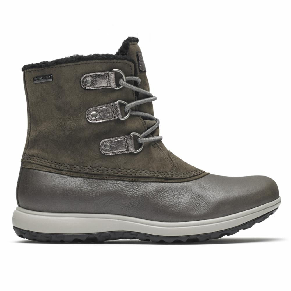 Rockport Women XCS BRITT WP LOW BOOT IRON