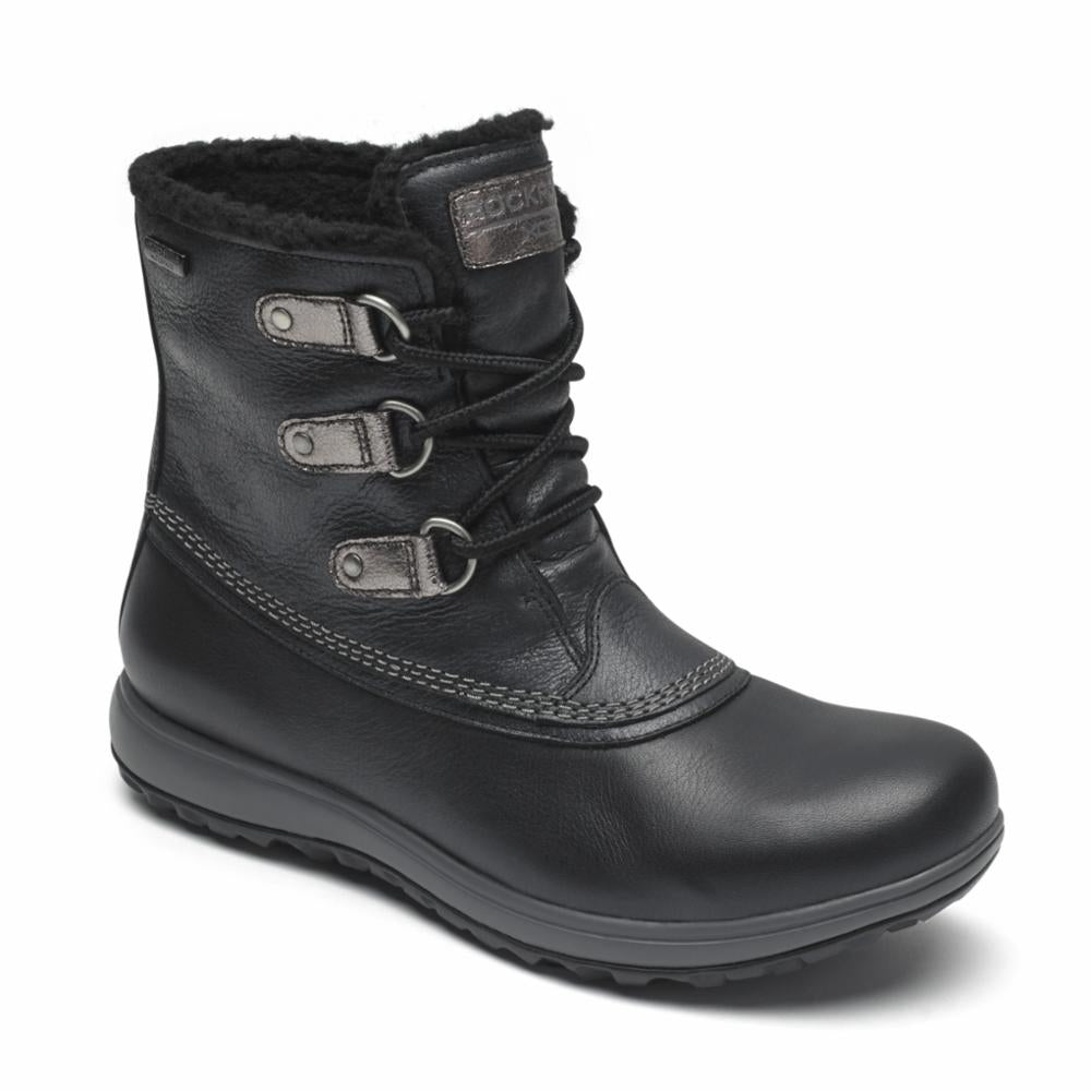 Rockport Women XCS BRITT WP LOW BOOT BLACK