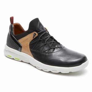 Rockport Men LETS WALK M BUNGEE BLACK/LEATHER
