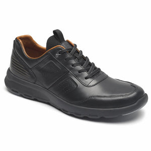 Rockport Men LETS WALK M UBAL BLACK/LEATHER