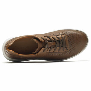 Rockport Men LETS WALK M PLAINTOE TAN/LEATHER