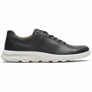 Rockport Men LETS WALK M PLAINTOE BLACK/LEATHER