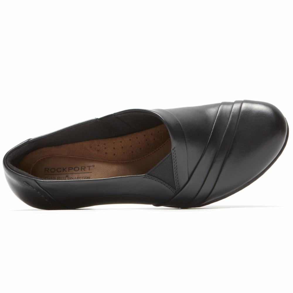 Cobb Hill ABBOTT SLIPON BLACK/LEATHER