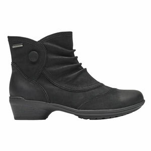 Rockport Women RAVEN WATERPROOF BUTTON BT BLACK/NUBUCK WP