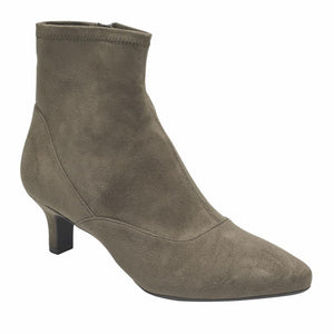 Rockport Women KIMLY STRETCH BOOTIE DK TAUPE/MICROSUEDE