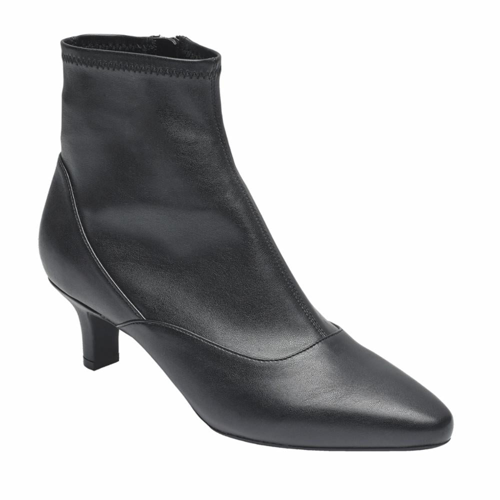 Rockport Women KIMLY STRETCH BOOTIE BLACK/STRETCH