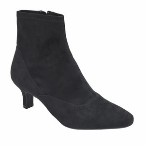 Rockport Women KIMLY STRETCH BOOTIE BLACK/MICROSUEDE
