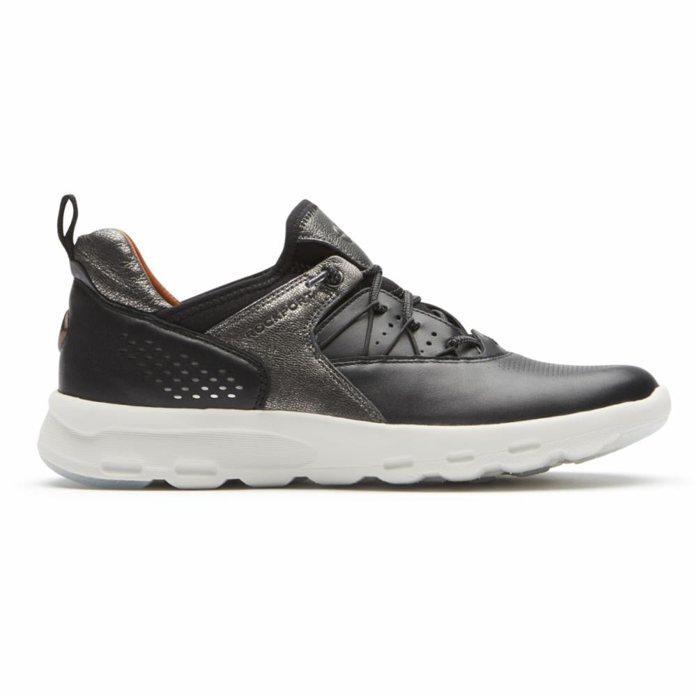 Rockport Women LETS WALK BUNGEE BLACK