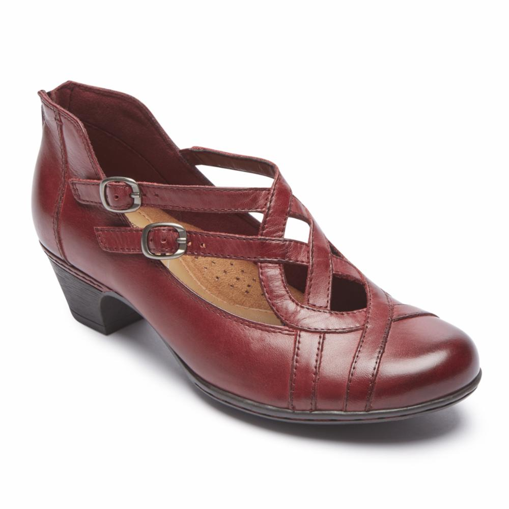 Cobb Hill ABBOTT CURVY SHOE RED/LEATHER