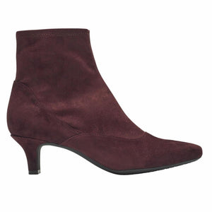 Rockport Women KIMLY STRETCH BOOTIE WINE/MICROSUEDE