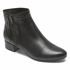 Rockport Women TOTAL MOTION RAINA PLAIN BOOT BLACK