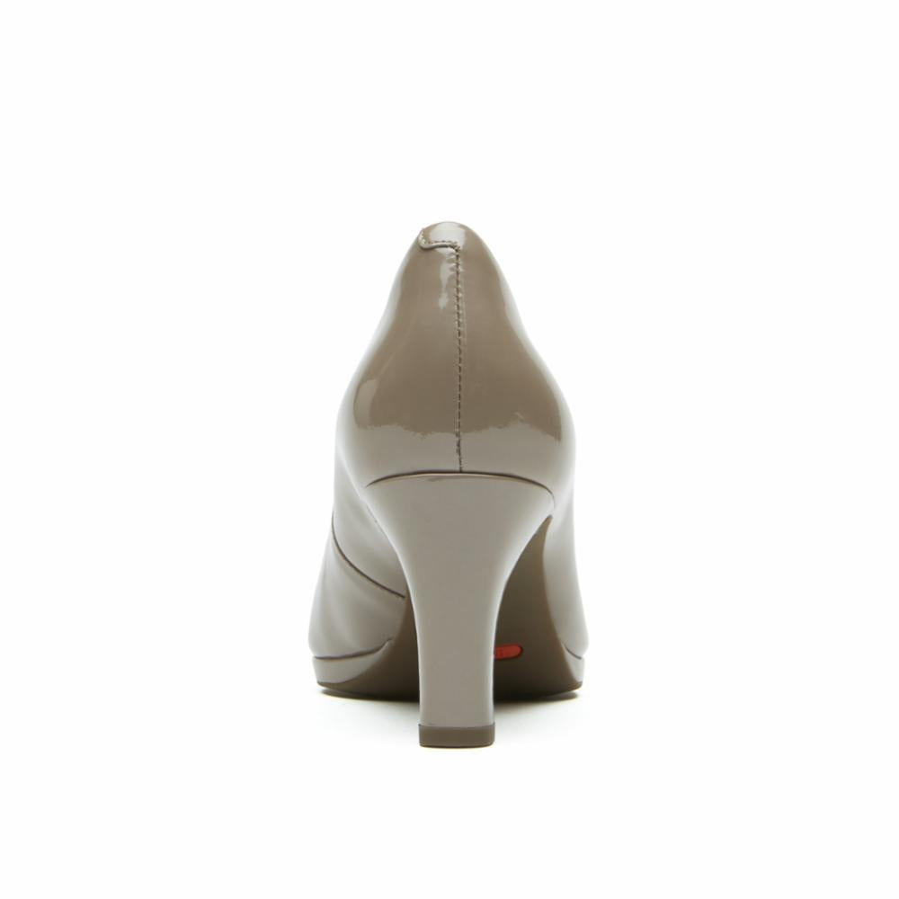 Rockport Women TOTAL MOTION LEAH PUMP DARK TAUPE/PEARL