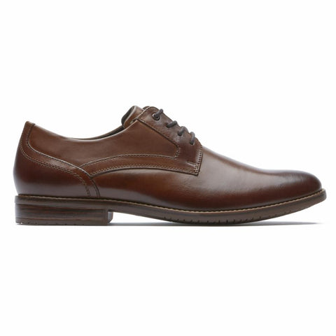 Rockport Men STYLE PURPOSE 3 PLAIN TOE COGNAC
