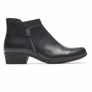 Rockport Women CARLY BOOTIE BLACK/LEATHER