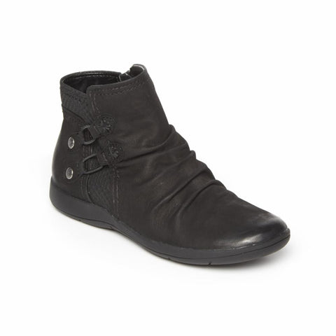 Rockport Women DAISEY BUNGIE BOOT BLACK LEATHER