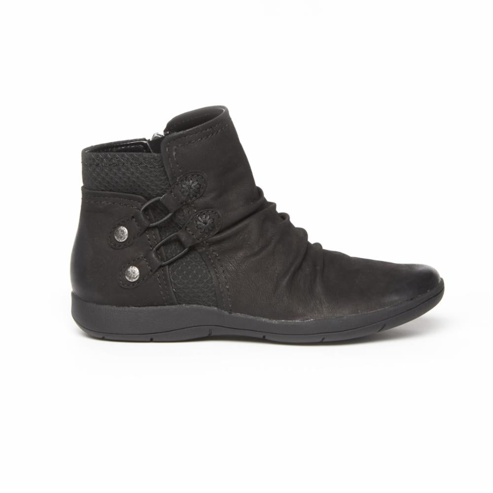 Rockport Women DAISEY BUNGIE BOOT BLACK/LEATHER