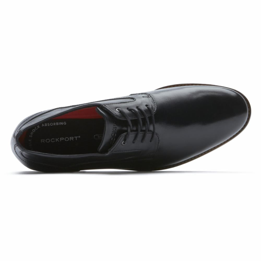 Rockport Men STYLE PURPOSE 3 PLAIN TOE BLACK/LEATHER