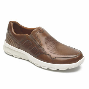 Rockport Men LETS WALK M SLIP-ON TAN/LEATHER
