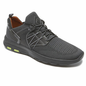Rockport Men LETS WALK M KNIT BUNGEE BLACK