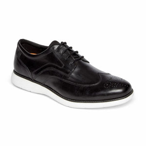 Rockport Men GARETT WING TIP BLACK/WHITE OS