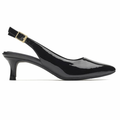Rockport Women TOTAL MOTION KAIYA SLING BLACK/PATENT