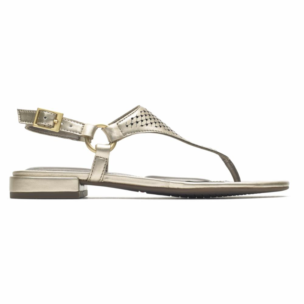 Rockport Women TOTAL MOTION ZOSIA THONG GOLD