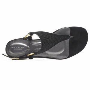 Rockport Women TOTAL MOTION ZOSIA THONG BLACK