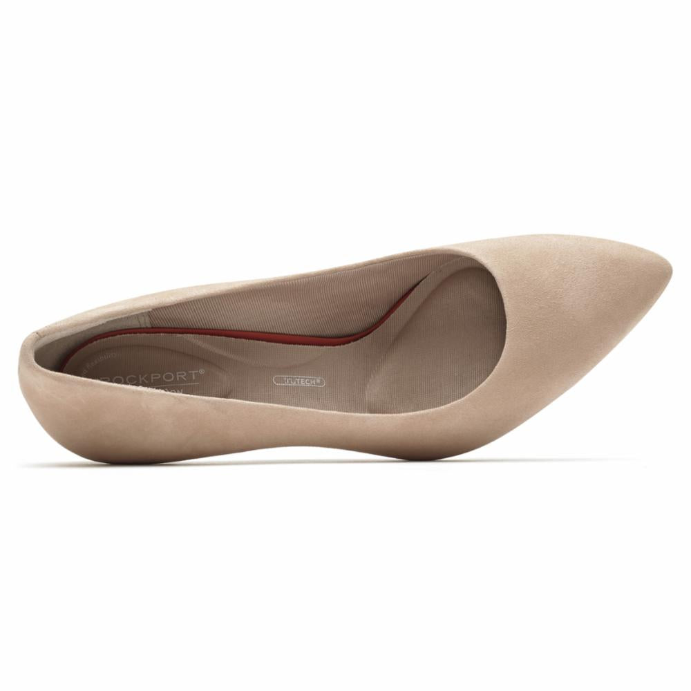 Rockport Women TOTAL MOTION 75mmPTH PLAIN PUMP DUSTY PEACH