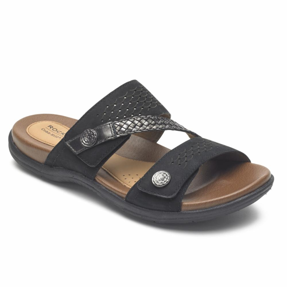 Cobb Hill RUBEY ASYM SLIDE BLACK