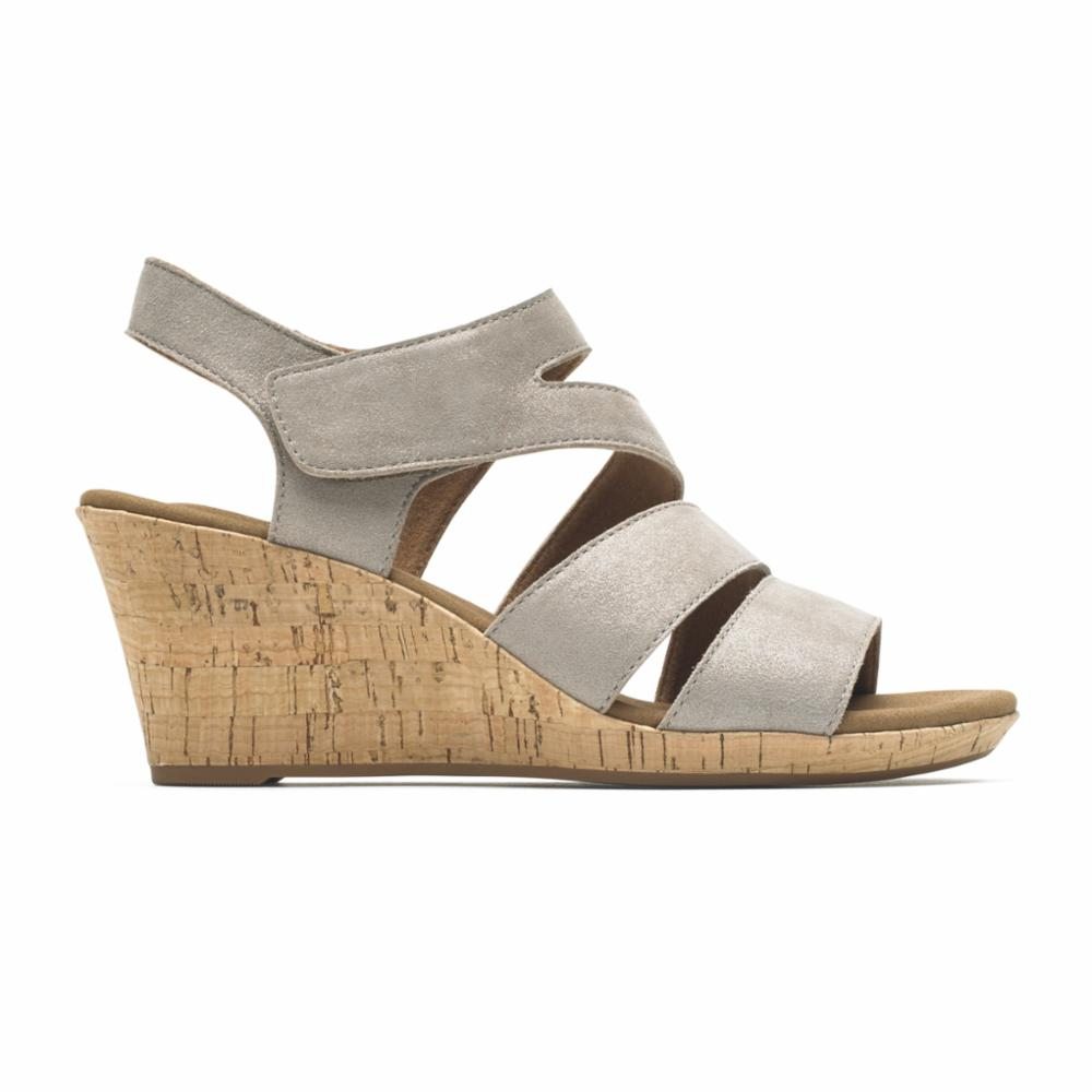 Rockport Women BRIAH ASYM KHAKI/METALLIC