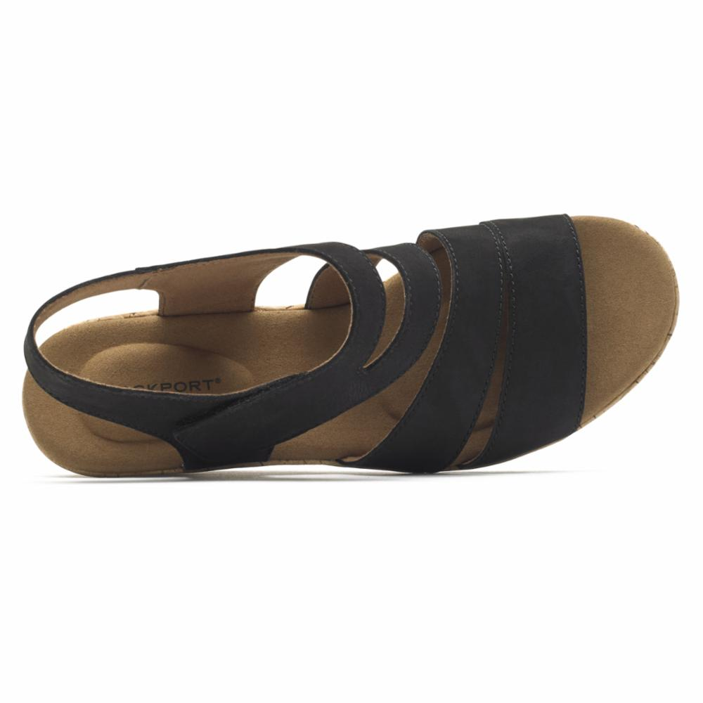 Rockport Women BRIAH ASYM BLACK/NUBUCK