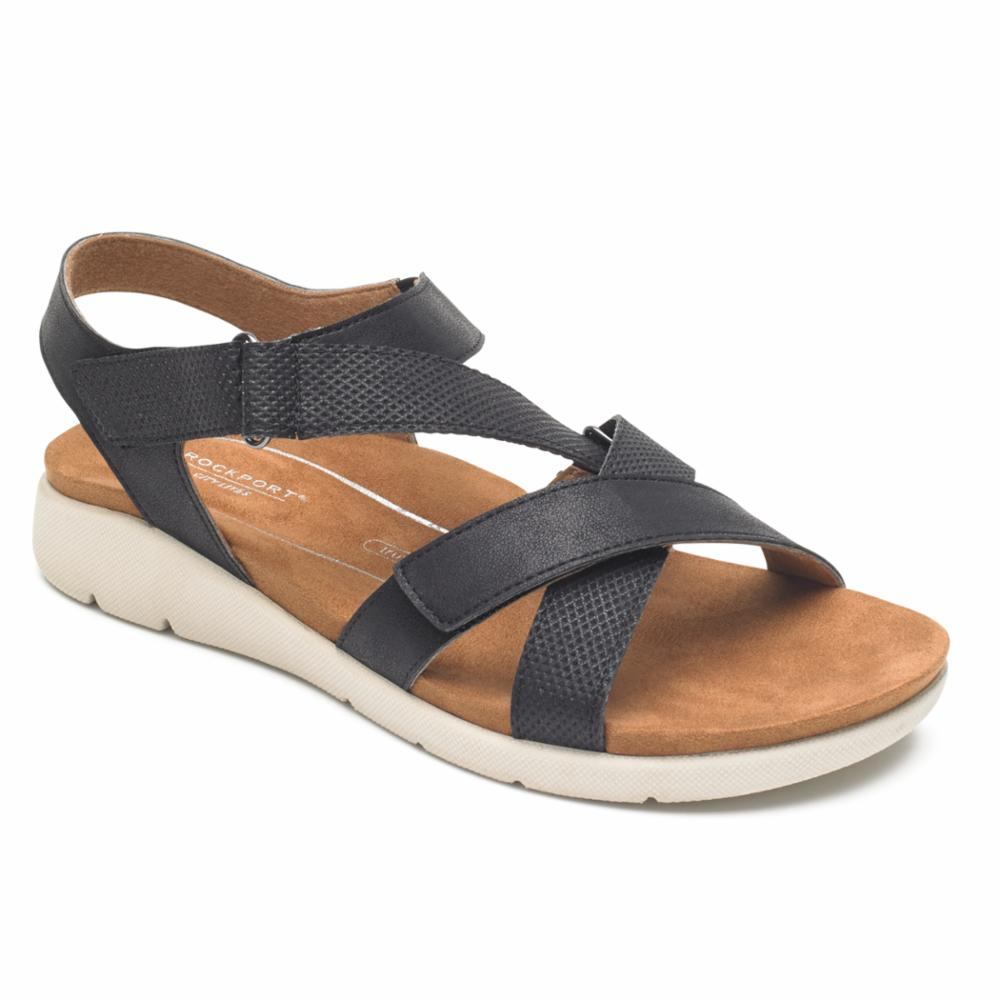 Rockport Women CL EILEEN X STRAP BLACK