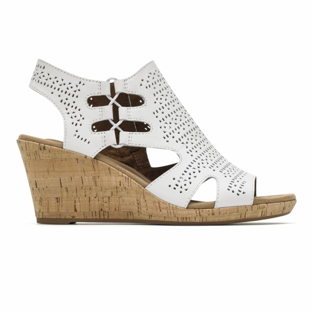 Cobb Hill JANNA PERF SANDAL BT WHITE