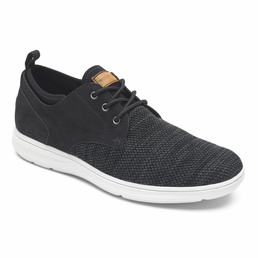 Rockport Men ZADEN PLAIN TOE OX BLACK NBK/MESH