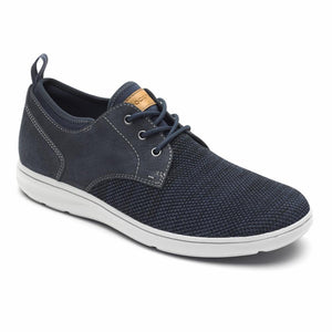 Rockport Men ZADEN PLAIN TOE OX NAVY NUBUCK/MESH