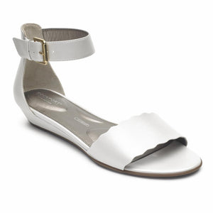 Rockport Women TOTAL MOTION ZANDRA CURVE ANK WHITE