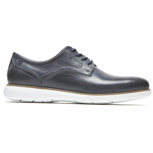 Rockport Men GARETT PLAIN TOE NEW DRESS BLUES/LEATHER
