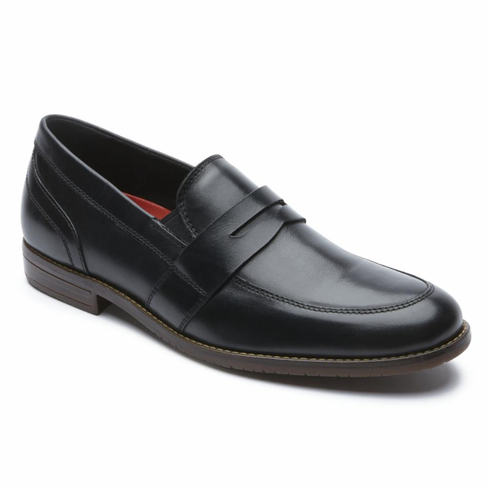 Rockport Men STYLE PURPOSE 3 DBLE GORE PENNY BLACK/LEATHER