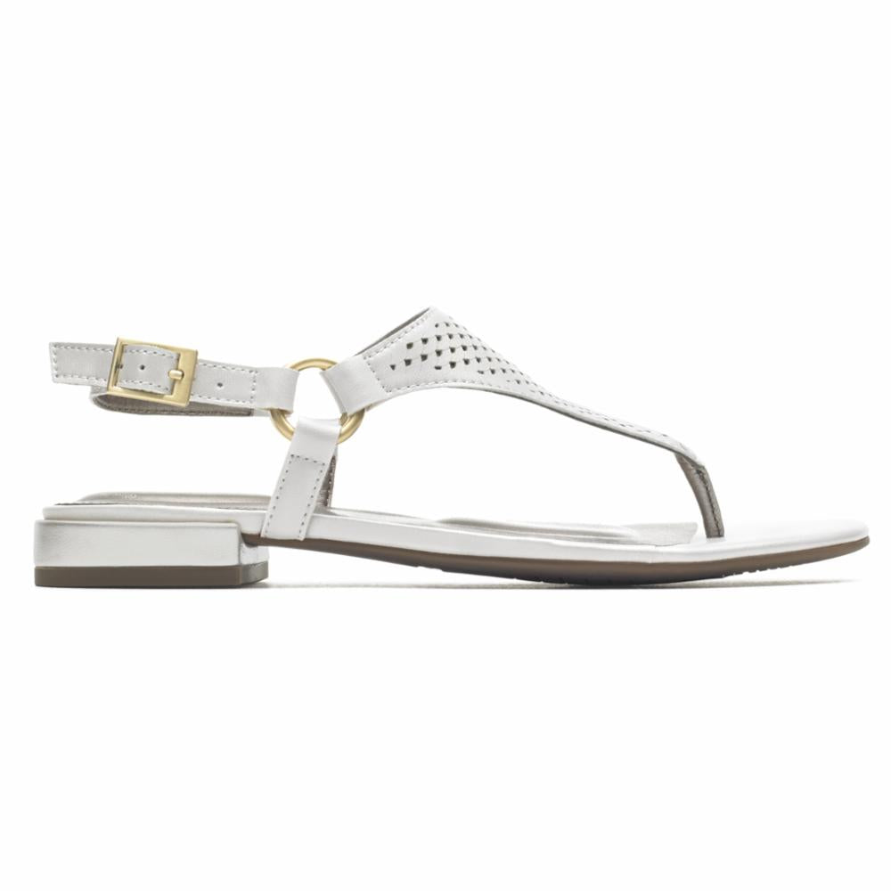Rockport Women TOTAL MOTION ZOSIA THONG WHITE