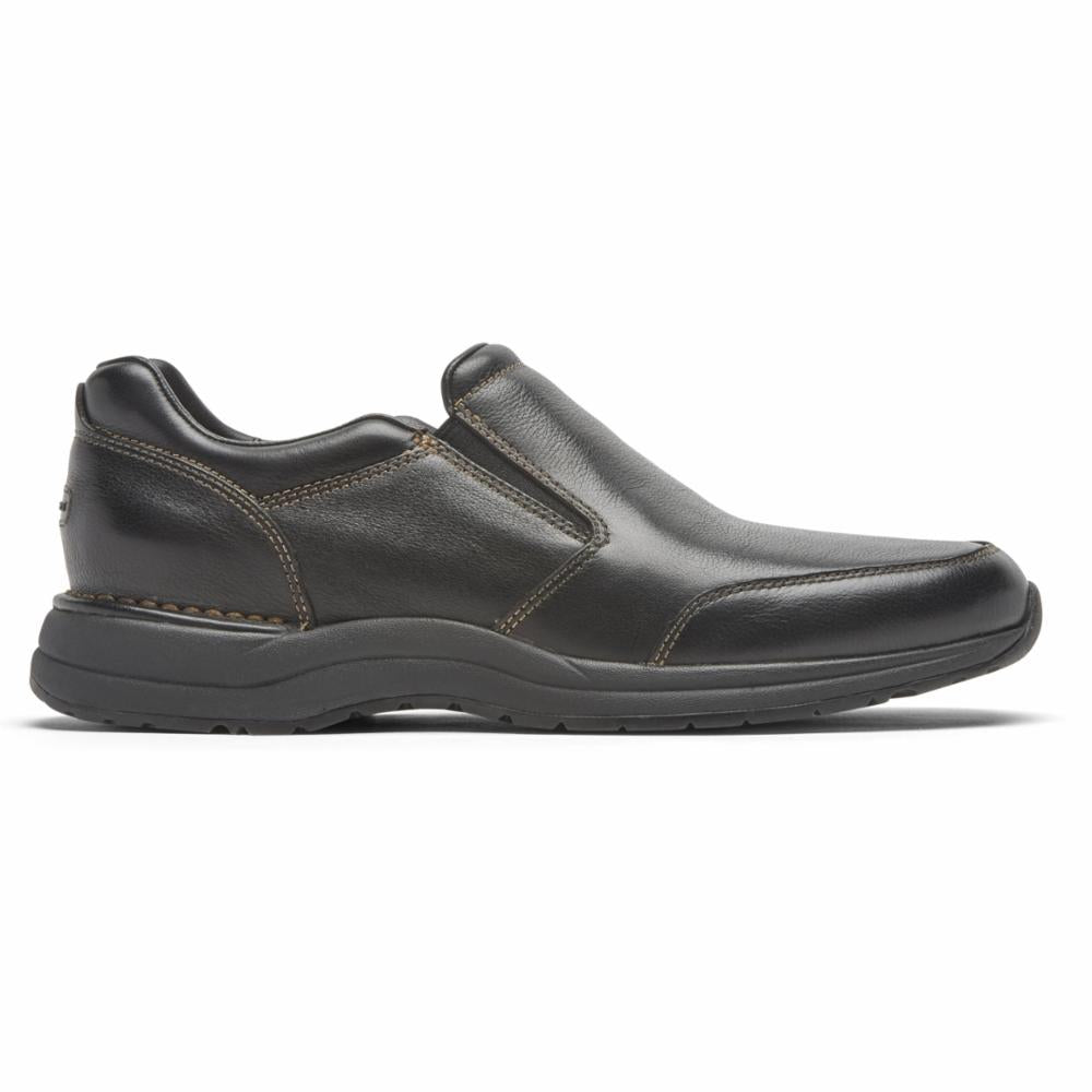 Rockport Men PATH TO CHANGE EDGE HILL II DBLE GORE BLACK/LEATHER