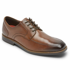 Rockport Men SLAYTER APRON TOE NEW BROWN/GLASS