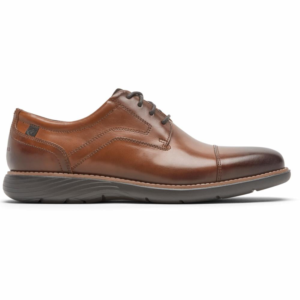 Rockport Men GARETT CAP TOE TAN/GRADIENT