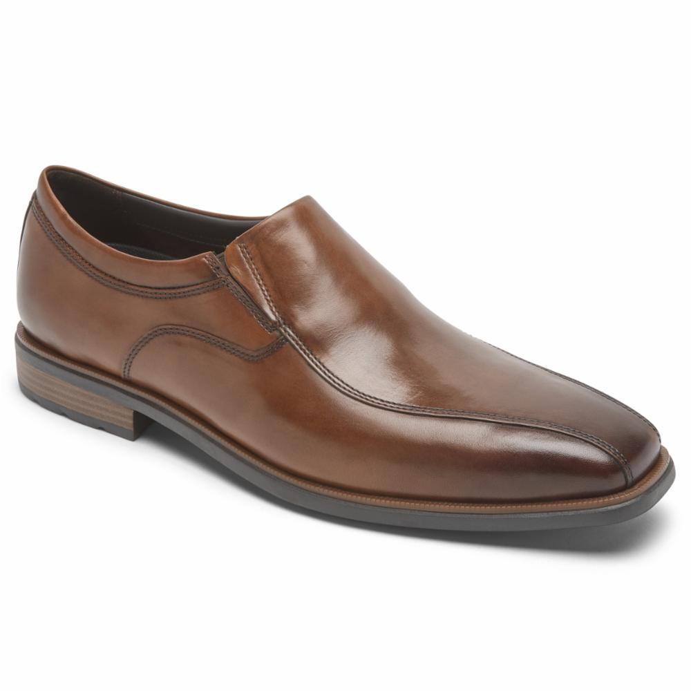 Rockport Men DRESSPORTS BUSINESS 2 SLIP ON COGNAC/ANTIQUE