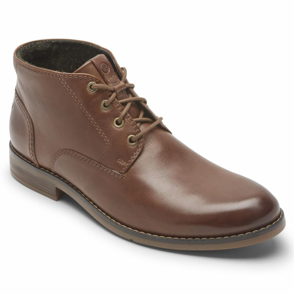 Rockport Men COLDEN CHUKKA DARK TAN